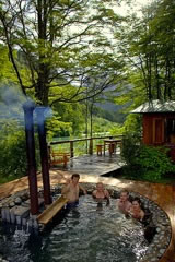 Hot tubbing on the Futaleufu